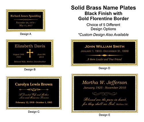- Customized Engraved Brass Name Plate - Urn Plate - Trophy Plate (3