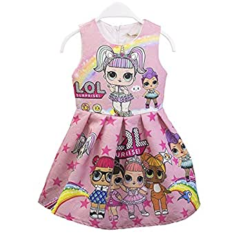 little girl dress Cartoon character dress
