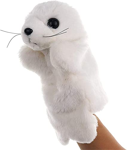 Cute Animal Hand Puppet Plush Dolls Preschool Educational Stage Show Kids Gifts