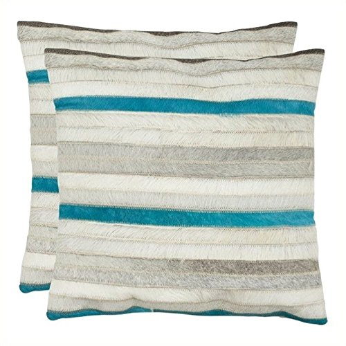 Safavieh Pillow Collection Throw Pillows, 18 by 18-Inch, Qui