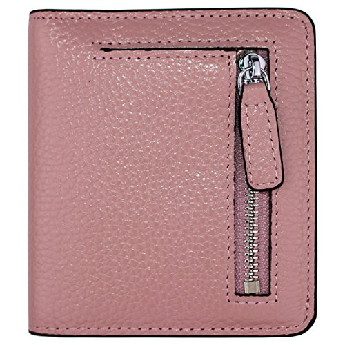 Women's RFID Blocking Small Genuine Leather Wallet Ladies Mini Card Case Purse (Pink) by KELADEY (Image #7)