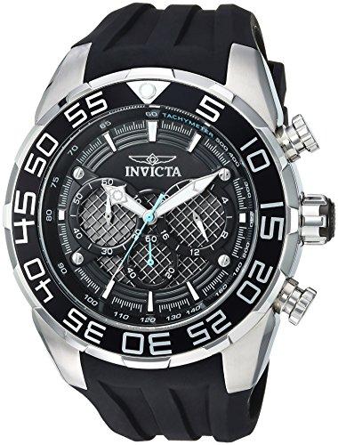 Men's Speedway Stainless Steel Quartz Watch with Silicone Strap, Black, 32 (Model - Invicta 26314