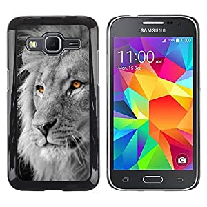 Impact Case Cover with Art Pattern Designs FOR Samsung Galaxy Core Prime Lion White Black King Africa Orange Betty shop