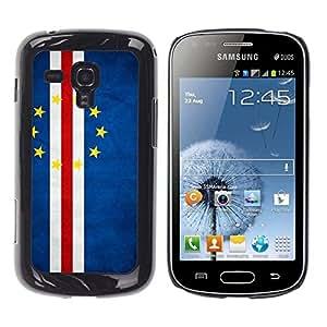 Be Good Phone Accessory // Dura Cáscara cubierta Protectora Caso Carcasa Funda de Protección para Samsung Galaxy S Duos S7562 // National Flag Nation Country Cape Verde