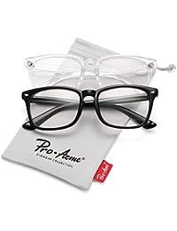 New Wayfarer Non-prescription Glasses Frame Clear Lens...