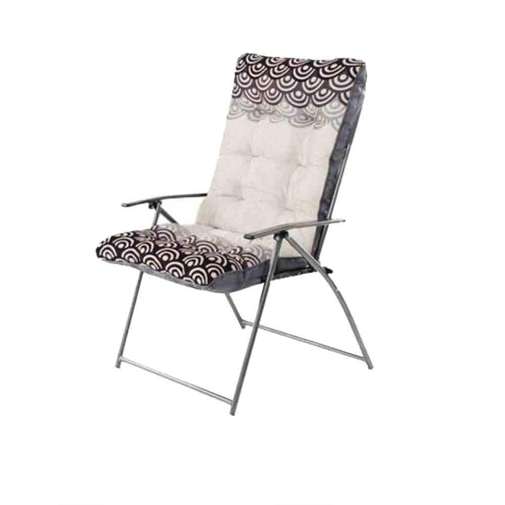 7 YCSD Folding Chair Office Lunch Break Chair Armchair Household Balcony 5 Gear-regulating Reclining & Sitting (color   1)