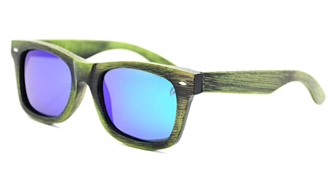 ed1cf53988 Image Unavailable. Image not available for. Colour  Generic Bamboo Wood  Sunglasses in wayfarer Style with Polarized UV Protection Lens for Men and  Women