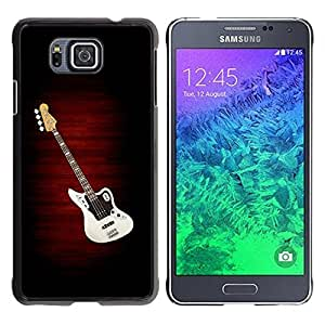 LASTONE PHONE CASE / Slim Protector Hard Shell Cover Case for Samsung GALAXY ALPHA G850 / Guitar Music Creation Art Drawing Pop Culture