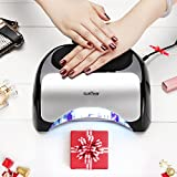 Upgraded 48W LED UV Nail Dryer- LED UV Nail Lamp/Light With Built-In Cooling Fan For Temp Control-Compatible With Gel Polishes And Layers- Great For Hands &Feet