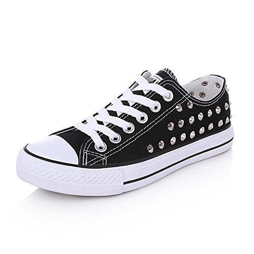 Shoes Strap Shoes Canvas Canvas Color Flat Solid Flat Cross Shoes frist Super Skate Round Heel Black Toe qPEERw