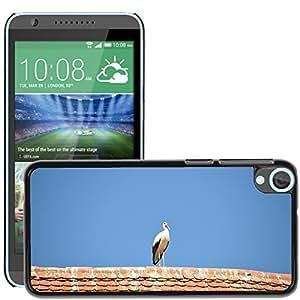 Hot Style Cell Phone PC Hard Case Cover // M00130643 Stork Bird Animal Rattle Stork // HTC Desire 820