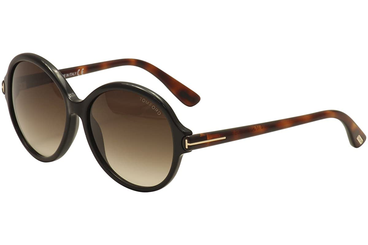 c1bf0e7900 Amazon.com  Tom Ford Sunglasses - Milena   Frame  Brown with Havana Temples  Lens  Brown Gradient  Clothing