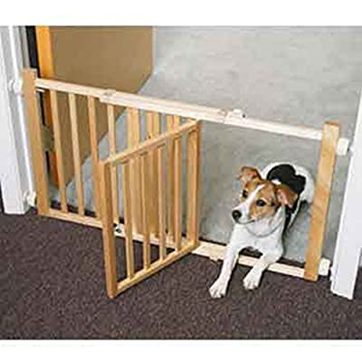 Four Paws Walk-over Wood Pet Gate with Door
