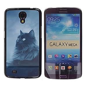 - BLUE EYES CAT NIGHT BLACK GREY LONGHAIR - - Monedero pared Design Premium cuero del tir???¡¯???€????€?????n magn???¡¯&