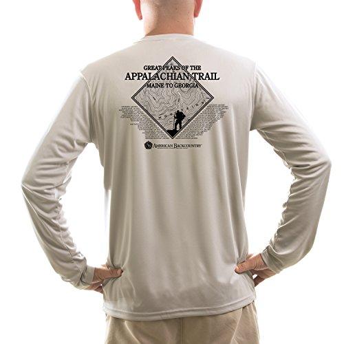 American Backcountry Men's Appalachian Trail UPF 50+ Long Sleeve T-shirtMedium Athletic Grey