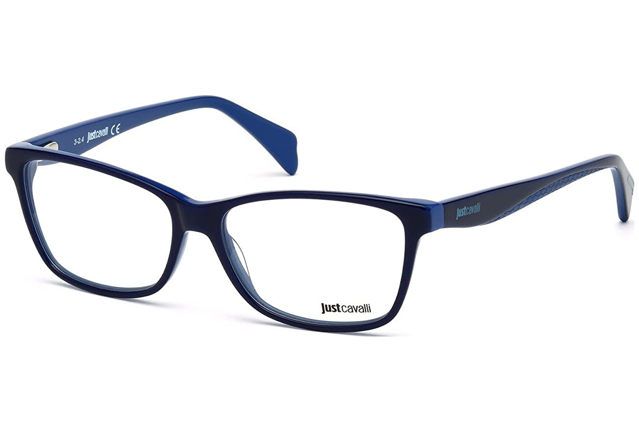 JUST CAVALLI Eyeglasses JC0712 090 Shiny Blue 54MM JC0712 090 54
