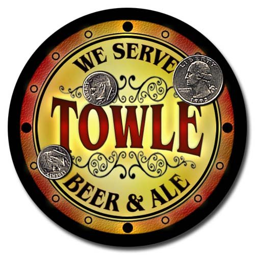 (Towle Family Golden Beer & Ale Rubber Drink Coasters)