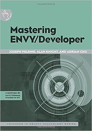 Mastering ENVY/Developer (SIGS: Advances in Object Technology)