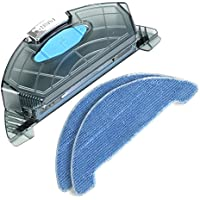 Dibea 350ML Large Water Tank with 2PCS Replacement Mopping Cloths for D960 Robot Vacuum Cleaner for Wet & Dry Floor Mopping