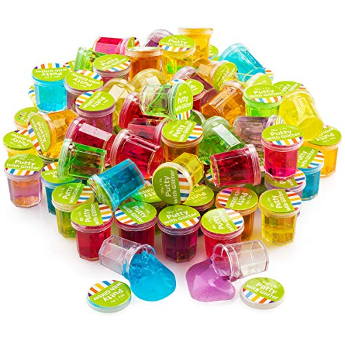 4E's Novelty Mini Putty Slime Glitter Assortment Bulk,