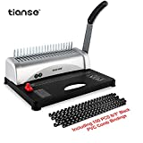 Binding Machine, 21-Hole, 450 Sheet, Comb Binding Machine with Starter Kit 100 PCS 3/8'' Comb Binding Spines, Comb Binding Machine Perfect for Daily Office Documents