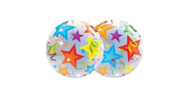 22 BRILLIANT STARS Qualatex Balloon 23594 BUBBLE Multicolored