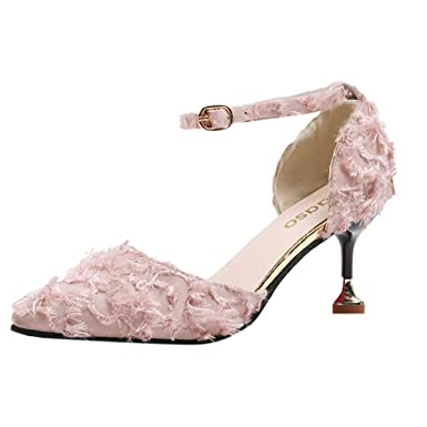 8193e98e12ad9 Amazon.com: Claystyle Women's Low Heel Pump Sandals Pointed Buckle ...