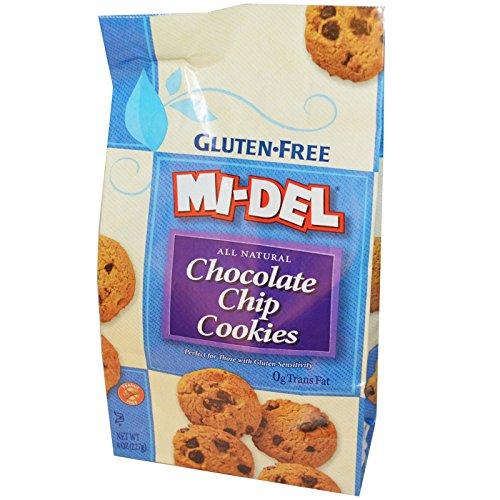 Mi-Del Cookies, Gluten Free Chocolate Chip Cookies, 8 oz (227 g) -- (Mi Del Gluten Free Cookies)