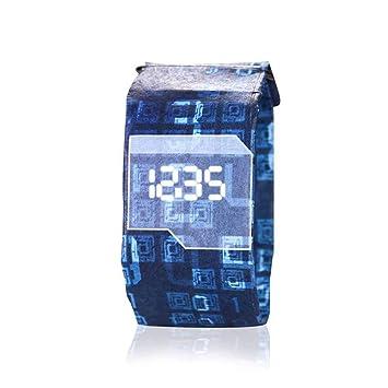 Reloj Digital de muñeca de Papel, Reloj Casual, Resistente al Agua, Digital, Reloj de Pulsera, Sistema magnético, para niñas y niños: Amazon.es: Electrónica