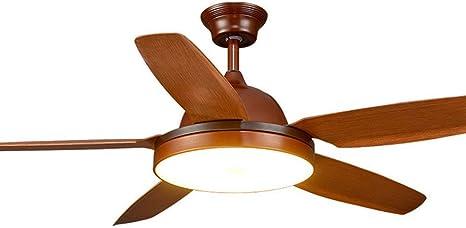 Ceiling fan Ventilador de Techo con luz y Mando a Distancia de 56 ...