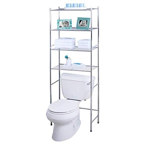 Amazoncom Over The Toilet Shelf Unit Premium Quality Chrome