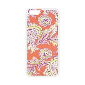 Turkish Paisley in Nectarine iPhone 6 4.7 Inch Cell Phone Case White NiceGift pjz0035050740