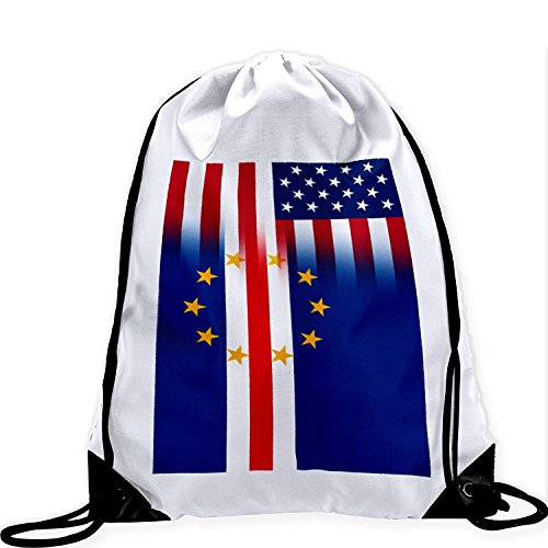 Large Drawstring Bag with Flag of Cape Verde - Many Designs - Long lasting vibrant image by crystars