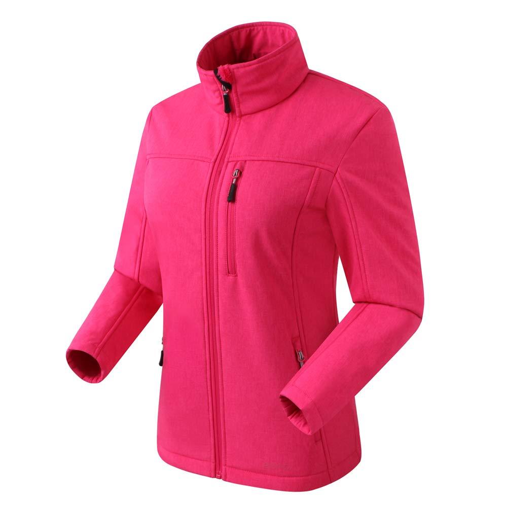 Eono Essentials Damen Softshell Jacke (Pink Melange, S)|Winterjacke damen