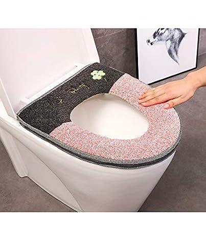 wangruimei coj/ín WC Espesada con la Cremallera coj/ín del Asiento del Inodoro Asiento de Inodoro de la Felpa en Forma de U en Forma de O Beige