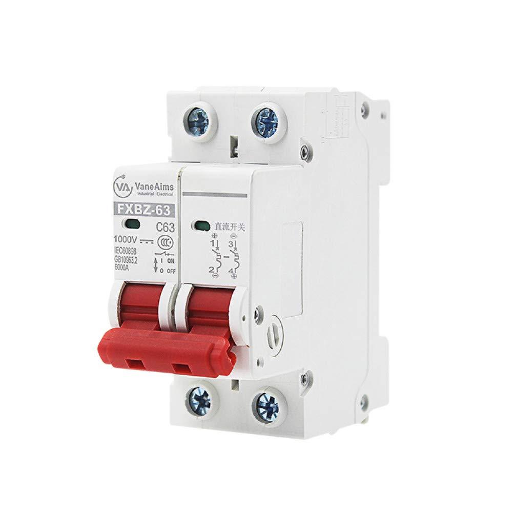 2P Dc 1000V Solar Mini Circuit Breaker 6A/10A/16A/20A/25A/32A/40A/50A/63A Dc Mcb