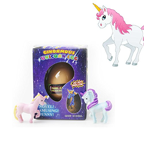 Anditoy Unicorn Hatching, Growing, Easter Eggs with Mini Unicorn Inside for Kids Gifts Toys