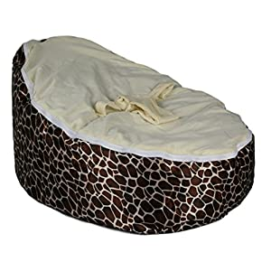 BayB Brand Baby Bean Bag - Filled - Ready To Use - Giraffe