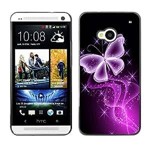- Butterfly Glitter Glittering Black Neon Purple - - Monedero pared Design Premium cuero del tir???¡¯???€????€?????????&Atil