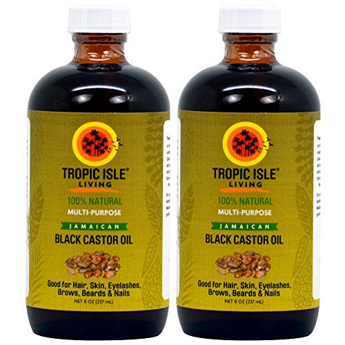 Tropic Isle Living Jamaican Black Castor Oil 8oz - Glass Bottle (Pack of 2)