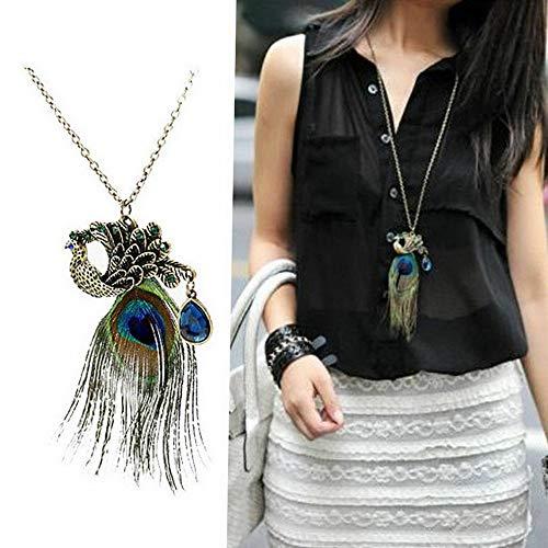 Werrox Elegant Womens Crystal Tassel Pendant Long Chain Sweater Necklace Jewelry Gift | Model NCKLCS - 22746 |