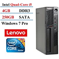 Lenovo M91P Ultra Small Form Factor Desktop, Intel Core i5 3.1GHz, 4GB DDR3, 250GB HDD, DVD-RW, Win7 Professional (Certified Refurbished)