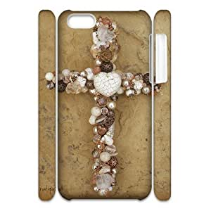 J-LV-F Customized 3D case Jesus Christ Cross for iPhone 5C
