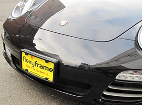 Flexyframe A NASA-like Rubber Front License Plate Bracket Frame Tag Holder Guard Bumper for (Lower Front Frame Cover)