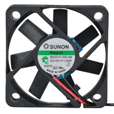 SUNON ME50101V1-000U-A99 Fan, 12 VDC, 13.8 CFM, 12'' Leads, 10 mm H x 50 mm L x 50 mm W