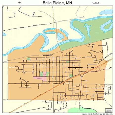 Amazon.com: Large Street & Road Map of Belle Plaine, Minnesota MN ...