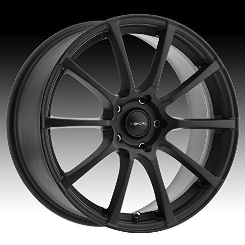 (Focal 448SB F-20 Black with Satin Clear-Coat Wheel with Painted Finish (16 x 7. inches /4 x 100 mm, 40 mm Offset))