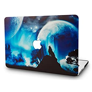 "KEC MacBook Pro 13"" Retina Case (2015) Cover Plastic Hard Shell Rubberized A1502 / A1425 Space Galaxy (Wolf)"