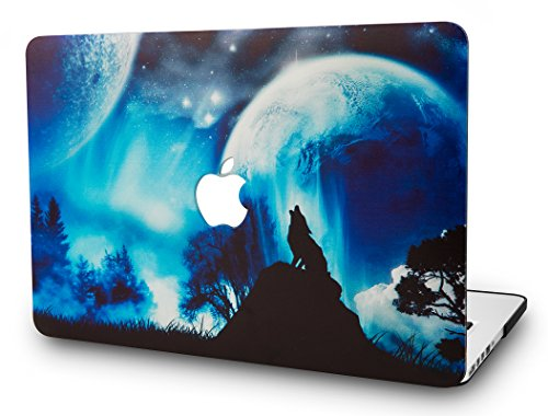 KECC Laptop Case for New MacBook Air 13″ Retina (2019/2018, Touch ID) Plastic Case Hard Shell Cover A1932 (Wolf)