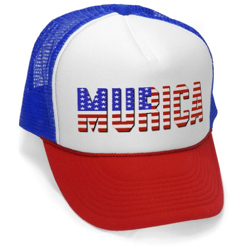 MURICA FOURTH OF JULY USA - 4th america patriot Mesh Trucker Cap Hat Cap, -